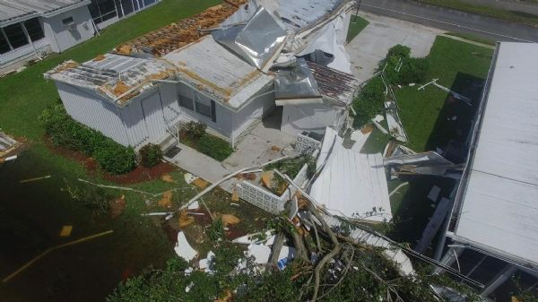 Riviera Golf Estates after Irma mobile home