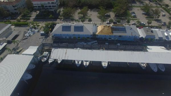 Aerial Naples Tin City after Irma