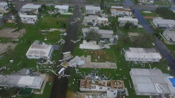 Naples Estates mobile homes after Hurricane Irma