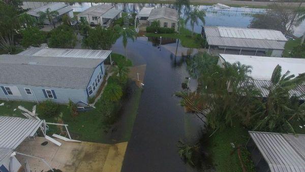 Naples estates mobile homes park after Irma 3